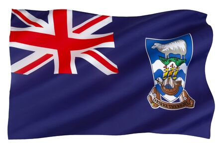 Flag of the Falkland Islands. The current flag was adopted on 25 January 1999.