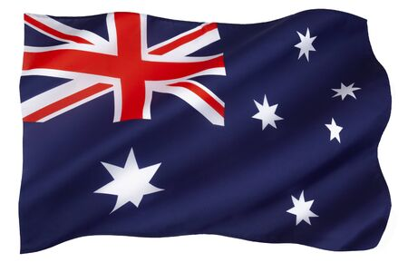 The national flag of Australia - Adopted 11 February 1903. Banco de Imagens