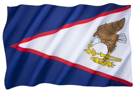The flag of American Samoa - Adopted in April 1960 to replace the Stars and Stripes as the official flag of this US territory.