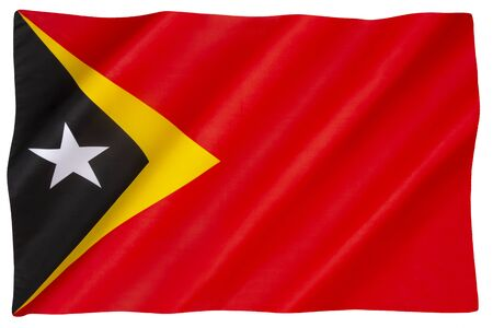 The national flag of Democratic Republic of East Timor - Adopted 28 November 1975.
