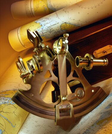 Sextant - a doubly reflecting navigation instrument that measures the angular distance between two visible objects. The primary use of a sextant is to measure the angle between an astronomical object and the horizon for the purposes of celestial navigation