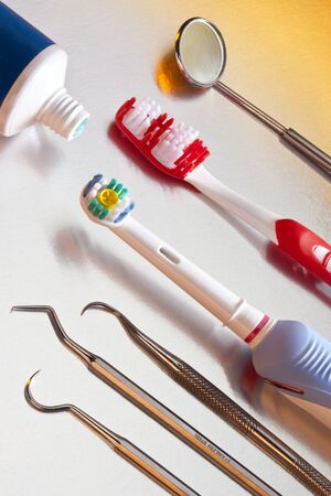 Oral Hygiene - Electric toothbrush, manual toothbrush, toothpaste and dental cleaning equipment.