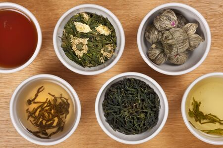 A selection of Chinese Herbal Tea. Stockfoto