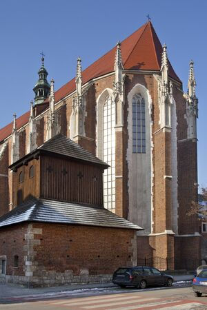Church of St. Catherine in the Kazimierz Quarter of the city of Krakow, Poland.