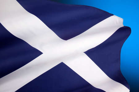 The Flag of Scotland, also known as Saint Andrew's Cross or the Saltire.