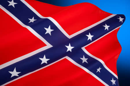 A rectangular variant of the square Confederate Army battle flag. Despite never having historically represented the C.S.A. it is commonly referred to as the Confederate Flag and has become a widely recognized symbol of the South. It is also known as the rebel flag, Dixie flag, and Southern cross.