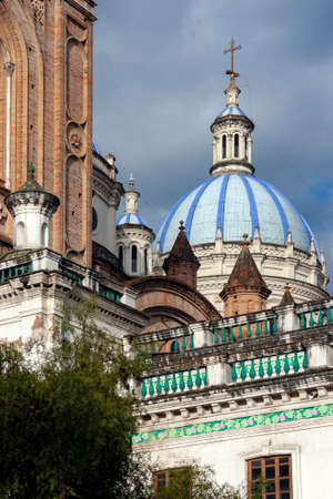 The Cathedral of the Immaculate Conception, commonly referred to as the New Cathedral. Cuenca in Ecuador, South America. Construction work started in 1885 and lasted for almost a century.