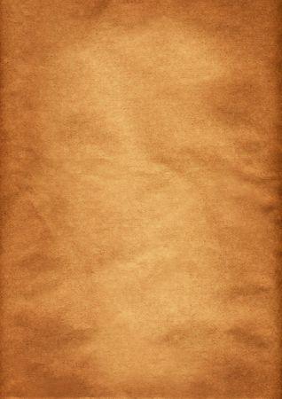 Sfondo, di carta marrone con texture e arancione grunge