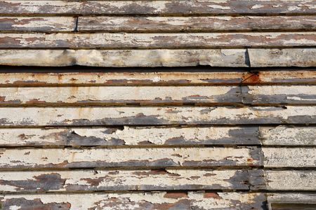 Wood cladding on the side of a house photo