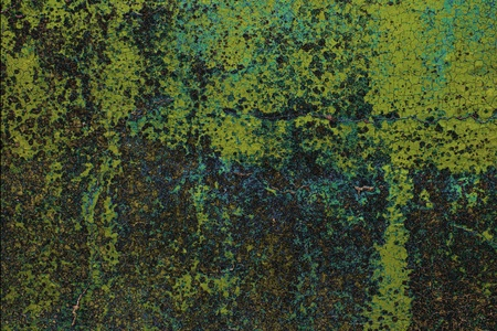 plaster mould: Old wall background, green dirty grunge texture Stock Photo