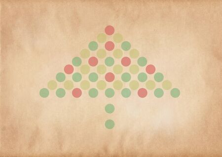 Retro christmas tree on a grungy brown background photo