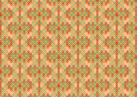 Dark circles retro pattern on a grungy brown background photo