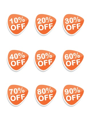Set of 9 vector online shopping icons, orange