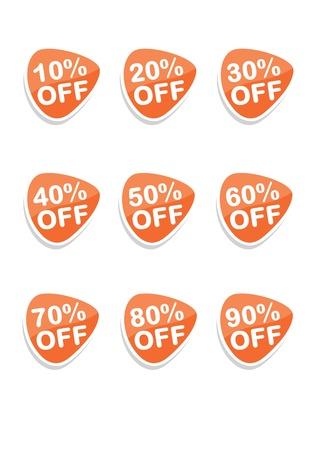 Set di vettore 9 icone dello shopping online arancione