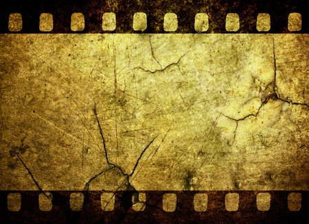 Vintage grunge film strip background photo