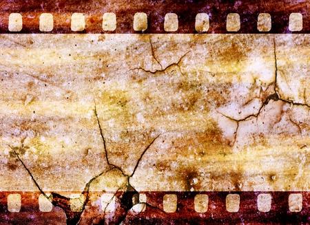 Vintage grunge film strip background Standard-Bild