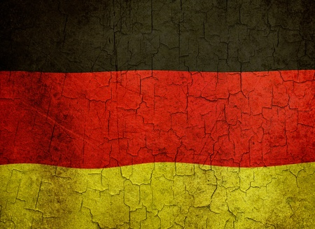 German flag on a cracked grunge background