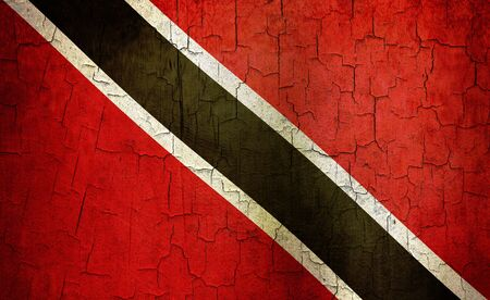 Trinidad and Tobago flag on a cracked grunge background Stock Photo - 12191314