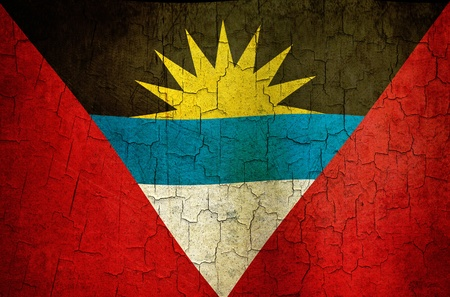 Antigua and Barbuda flag on a cracked grunge background Stock Photo - 12191326