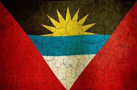 Antigua and Barbuda flag on a cracked grunge background Stock Photo - 12191326