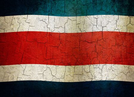 Costa Rican flag on a cracked grunge background Stock Photo - 12191325