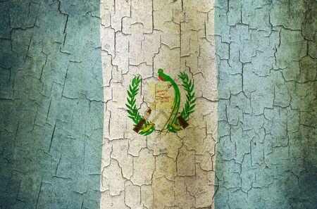 guatemalan: Guatemalan flag on a cracked grunge background