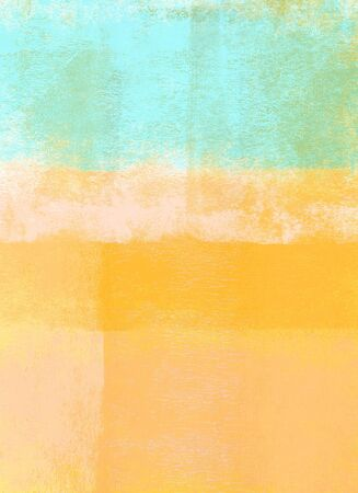 Orange and blue rolled paint background