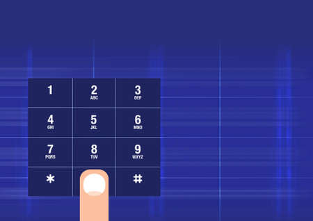 Dialling on a smartphone keypad photo