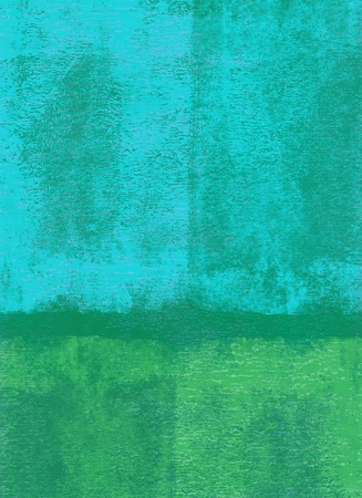 Blue and green rolled paint background