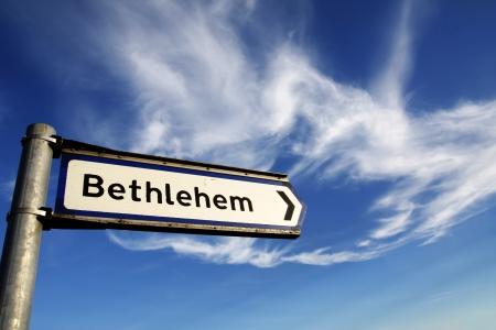 In questo modo, segno Betlemme strada