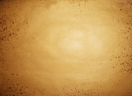 spattered: Stained old sepia paper background Stock Photo