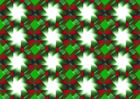 Red and green Christmas star pattern background photo