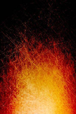 Scratched bonfire background photo