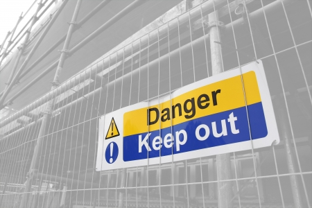 Danger Keep Out sign with lightened background Stock Photo - 16239435