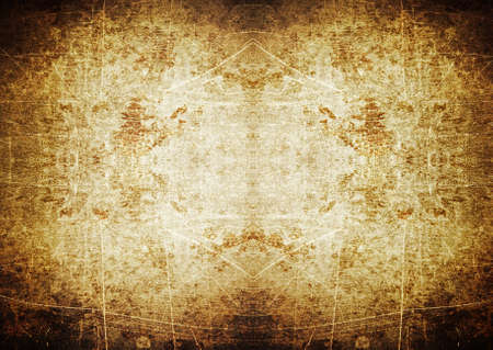 Brown spotlight grunge background with scratches