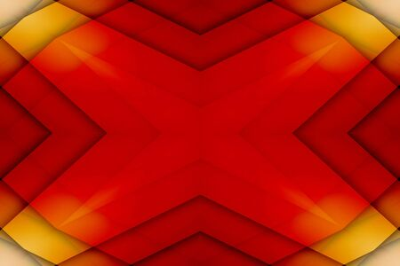 overlapped: Red and yellow overlapped star background