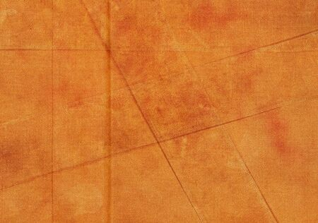 creases: Orange grunge fabric background with creases