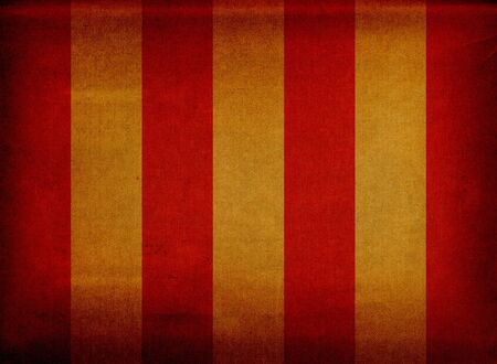 Red and yellow striped retro canvas deck chair cover photo