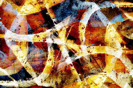 Colourful close up grunge graffiti background photo