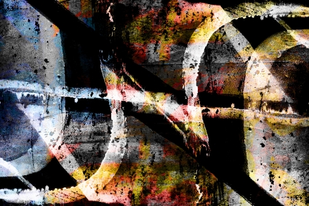 Colourful close up grunge graffiti background Stock Photo