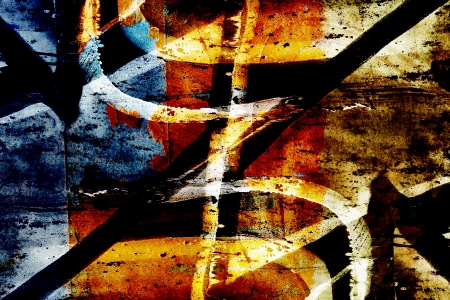 Colourful close up grunge graffiti background Stock Photo