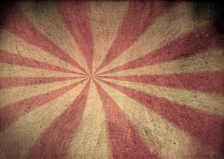 Faded red and yellow grunge starburst Stock Photo