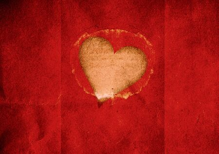 Red cut out grunge valentine heart background photo