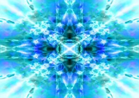 Blu e verde chiaro caleidoscopio di fondo del modello
