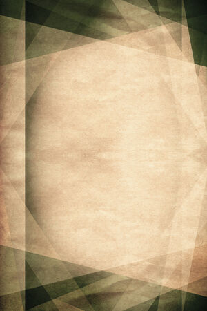 cubism: Vintage green and brown cubism background