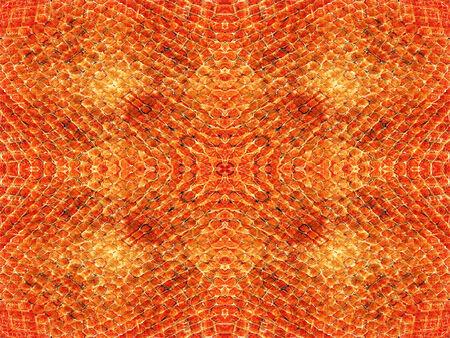 orange snake: Orange and brown snake skin pattern background Stock Photo
