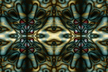 Abstract orange and blue tribal pattern