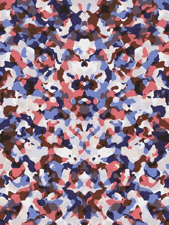 desaturated: Desaturated red and blue camouflage pattern