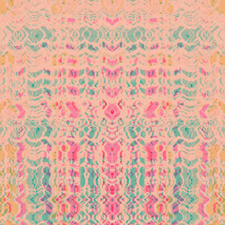 faded: Faded pink, red and green vintage pattern background Stock Photo