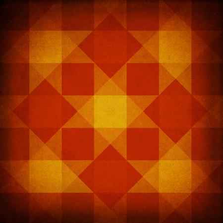 rough diamond: Retro red and yellow fabric diamond pattern Stock Photo